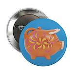 Vintage Toy Pig Art Button