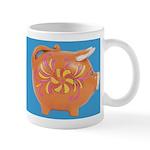 Vintage Toy Pig Art Ceramic Coffee Mug