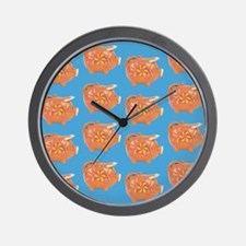 Vintage Toy Pig Art Wall Clock