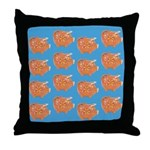 Vintage Toy Pig Art Throw Pillow