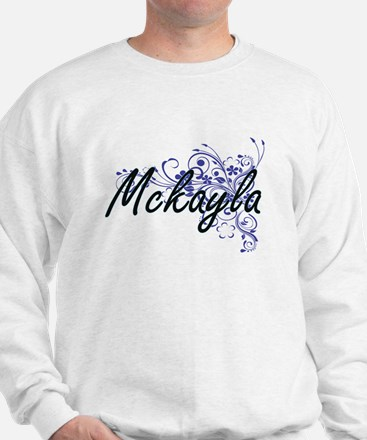 Mckayla Artistic Name Design with Flowe Sweater