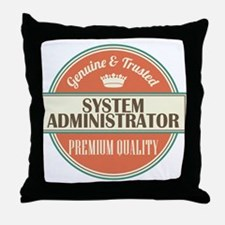system administrator vintage logo Throw Pillow