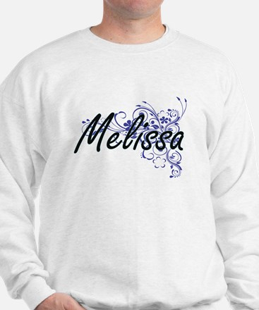 Melissa Artistic Name Design with Flowe Jumper