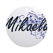 Mikaela Artistic Name Design with F Round Ornament