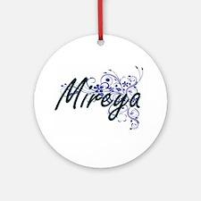 Mireya Artistic Name Design with Fl Round Ornament
