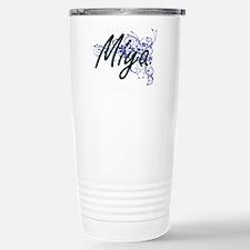 Miya Artistic Name Desi Stainless Steel Travel Mug