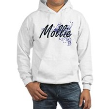 Mollie Artistic Name Design with Hoodie Sweatshirt
