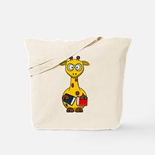 Bookworm Nerd Giraffe Tote Bag
