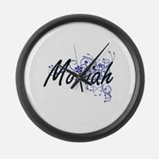 Moriah Artistic Name Design with Large Wall Clock