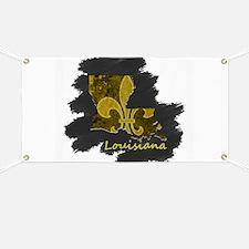 louisiana black and gold state fleur-de-lis Banner