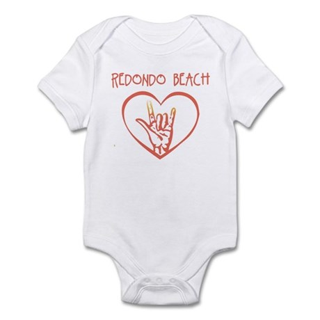 REDONDO BEACH (hand sign) Infant Bodysuit