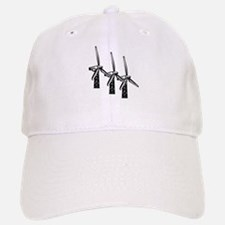 wind power is green power with 3 windmills.png Baseball Baseball Cap