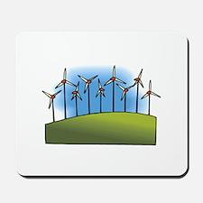 i love heart wind power windmills.png Mousepad