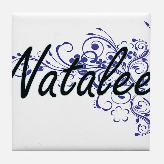 Natalee Artistic Name Design with Flo Tile Coaster