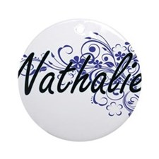 Nathalie Artistic Name Design with Round Ornament