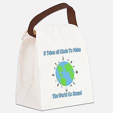 Around the World Canvas Lunch Bag