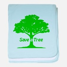 Save a Tree baby blanket
