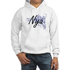 Nya Artistic Name Design with Fl Hoodie Sweatshirt