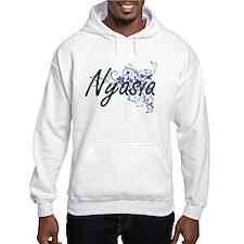 Nyasia Artistic Name Design with Hoodie Sweatshirt