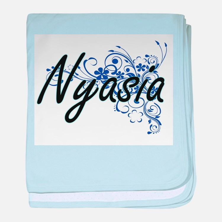 Nyasia Artistic Name Design with Flow baby blanket