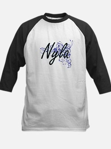 Nyla Artistic Name Design with Flo Baseball Jersey
