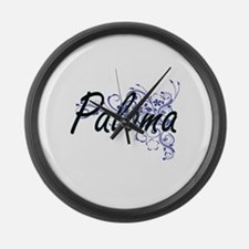 Paloma Artistic Name Design with Large Wall Clock