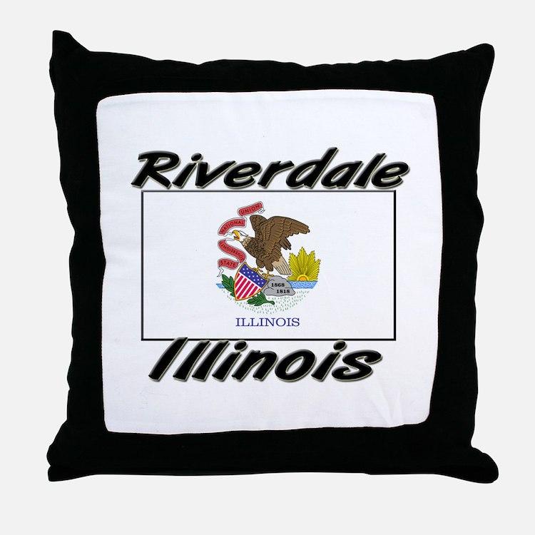 Riverdale Illinois Throw Pillow
