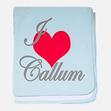 I love (heart) Callum baby blanket