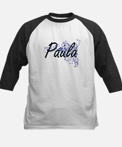 Paula Artistic Name Design with Fl Baseball Jersey