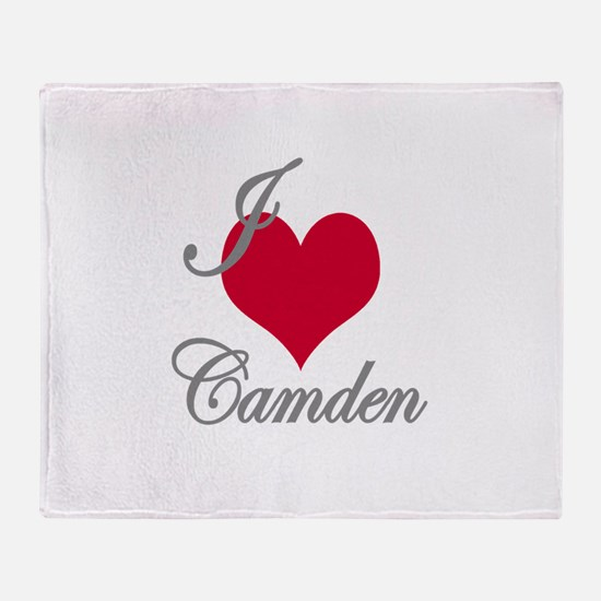 I love (heart) Camden Throw Blanket