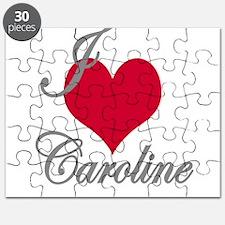I love (heart) Caroline Puzzle