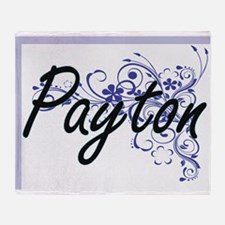 Payton Artistic Name Design with Flo Throw Blanket