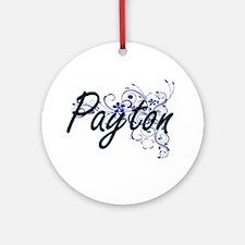 Payton Artistic Name Design with Fl Round Ornament