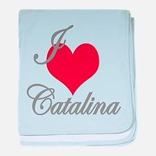 I love (heart) Catalina baby blanket