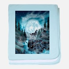 spirt of the wolf baby blanket