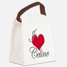 I love (heart) Celine Canvas Lunch Bag