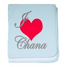 I love (heart) Chana baby blanket