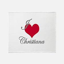 I love (heart) Christiana Throw Blanket
