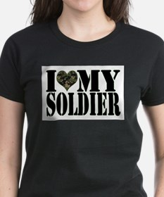 Unique I love my soldier Tee