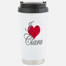 I love (heart) Ciara Stainless Steel Travel Mug