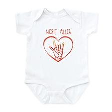 WEST ALLIS (hand sign) Infant Bodysuit