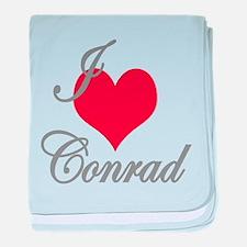 I love (heart) Conrad baby blanket