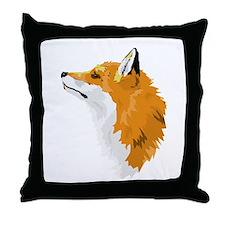 Fox Profile Throw Pillow