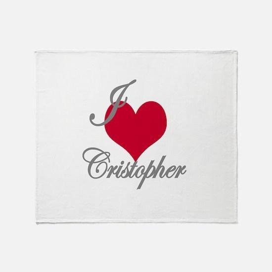 I love (heart) Cristopher Throw Blanket