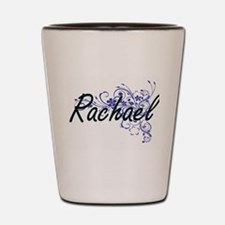 Rachael Artistic Name Design with Flowe Shot Glass