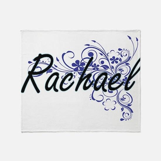 Rachael Artistic Name Design with Fl Throw Blanket