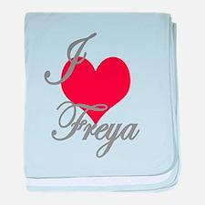 I love (heart) Freya baby blanket