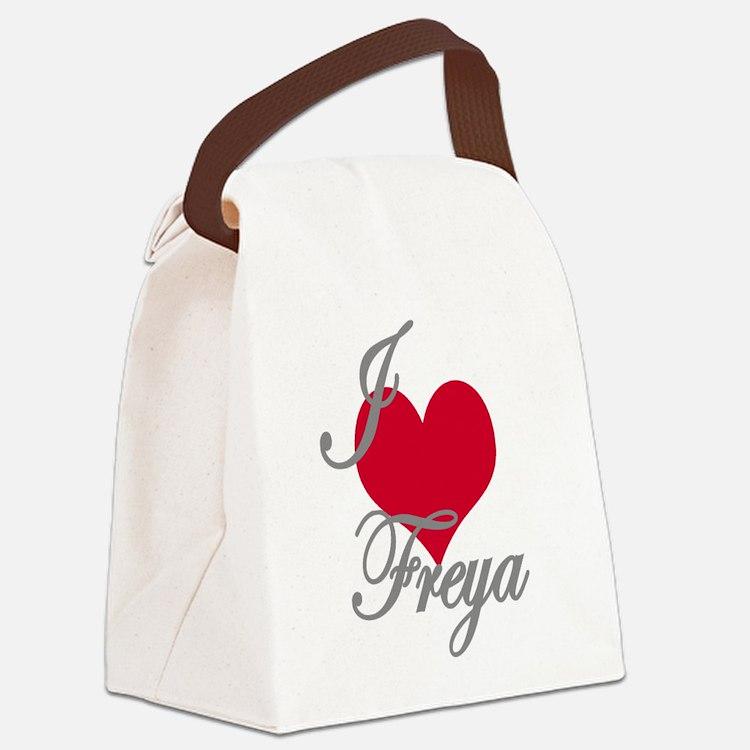 I love (heart) Freya Canvas Lunch Bag