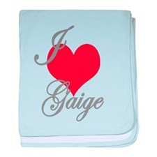 I love (heart) Gaige baby blanket
