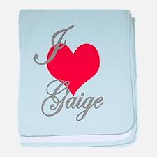 I love (heart) Gaige baby blanket